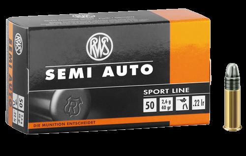 RWS .22lr SEMI AUTO 40 grs. 50 Stk/Pkg