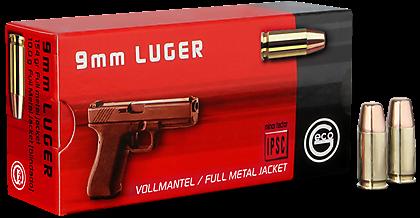 GECO 9mm Luger FMJFN 154grs 50 Stk/Pkg