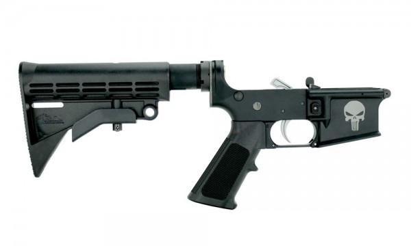 """ANDERSON AR15 M4 Multi Caliber Lower Open """" PUNISHER SKULL """""""