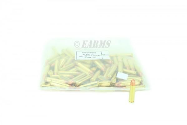 PPU .30 CARBINE 110grs FMJ RN 100 Stk/Pkg