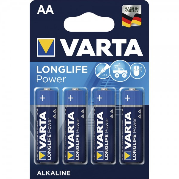 VARTA Mignon AA Longlife 1,5 Volt 4Stk/Pkg