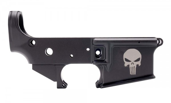 """ANDERSON AR-15 M4 Lower Open Stripped """" PUNISHER SKULL """""""