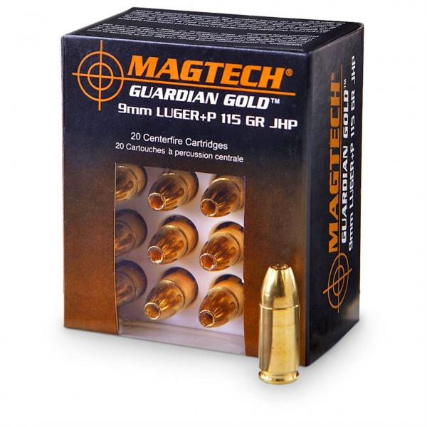 MAGTECH 9mm Luger Guardian Gold JHP 115grs 20 Stk/Pkg