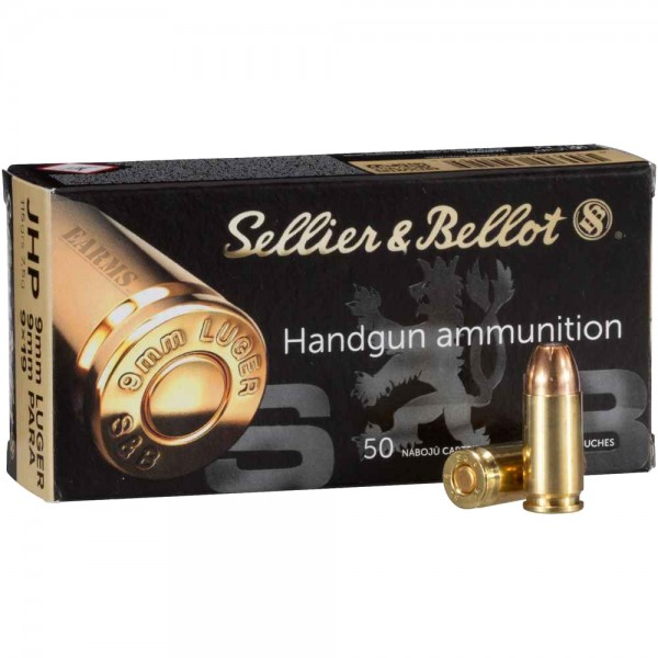 S&B 9mm Luger JHP 115grs 50 Stk/Pkg
