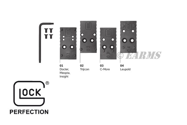 GLOCK MOS Adapter Set 01 G17,G34,G35,G41