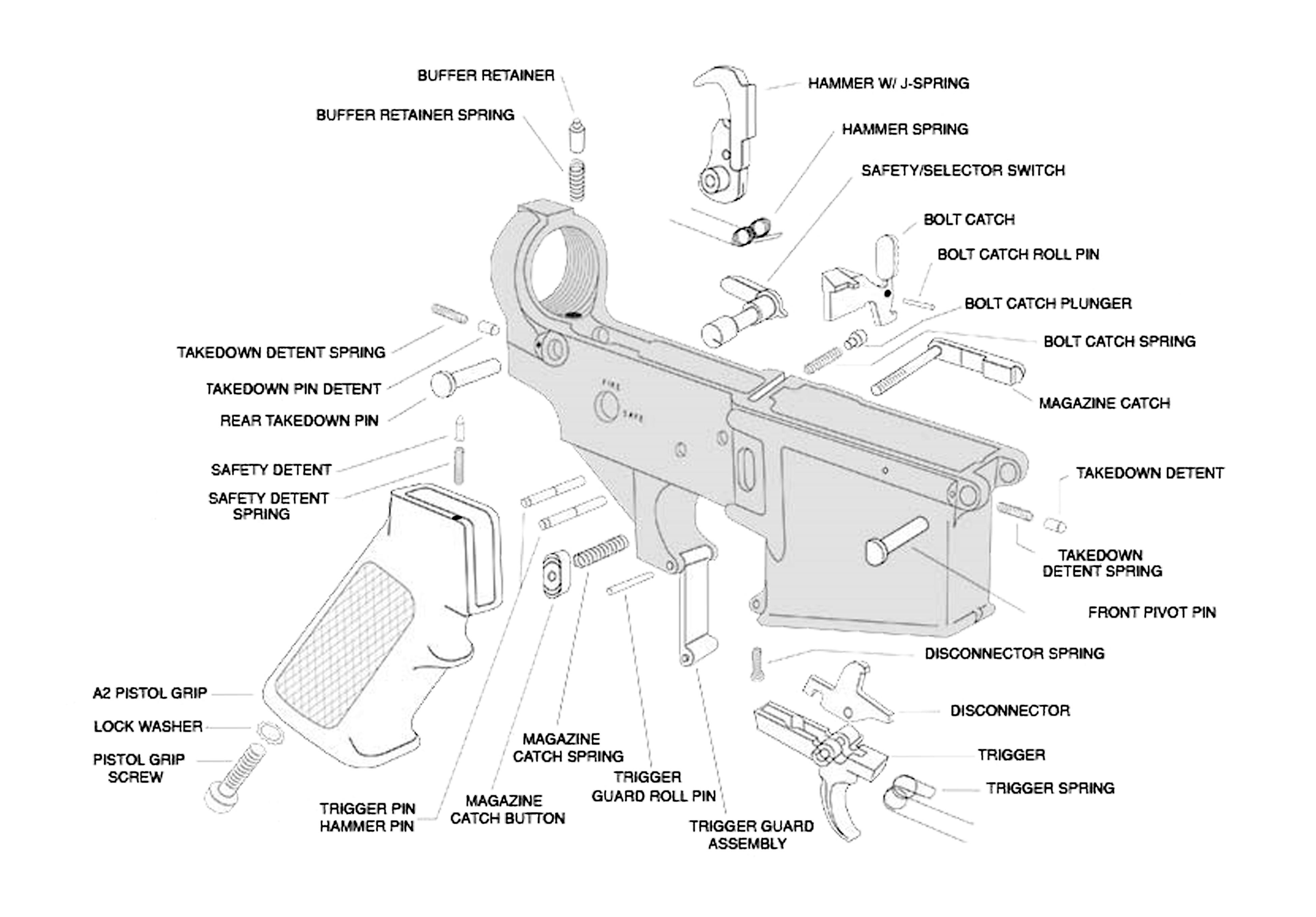 LUTH-AR-AR-15-Lower-Parts-Kit-Explosion-draw-cut