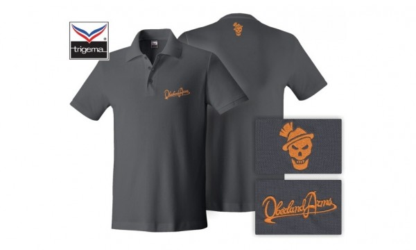 OBERLAND ARMS Polo Shirt Anthrazit/Orange