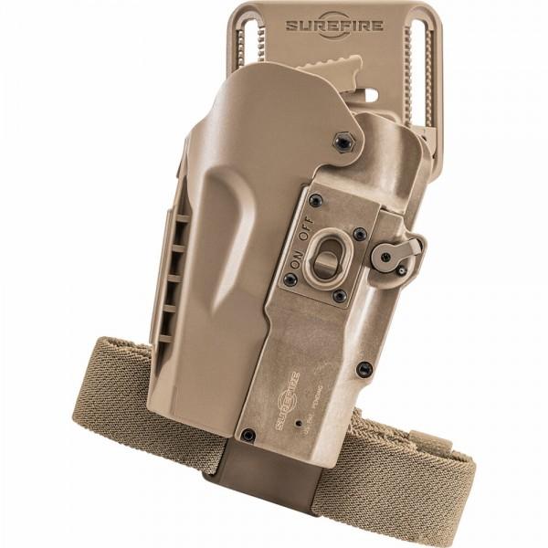 SUREFIRE MASTERFIRE® PRO RAPID HOLSTER for SureFire MasterFire Lights & Suppressors HD1-R-TN-PRO