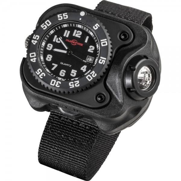 SUREFIRE 2211® WRISTLIGHT 2211-B-BK-SF Rechargeable Variable-Output LED + Watch