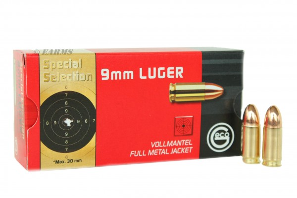 GECO SPECIAL SELECTION 9mm Luger FMJ 124 grs 50 Stk/Pkg