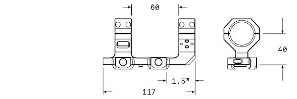 AUDERE-Levitas-Cantilever-mount-30mm-AR15-AR-15-AUG