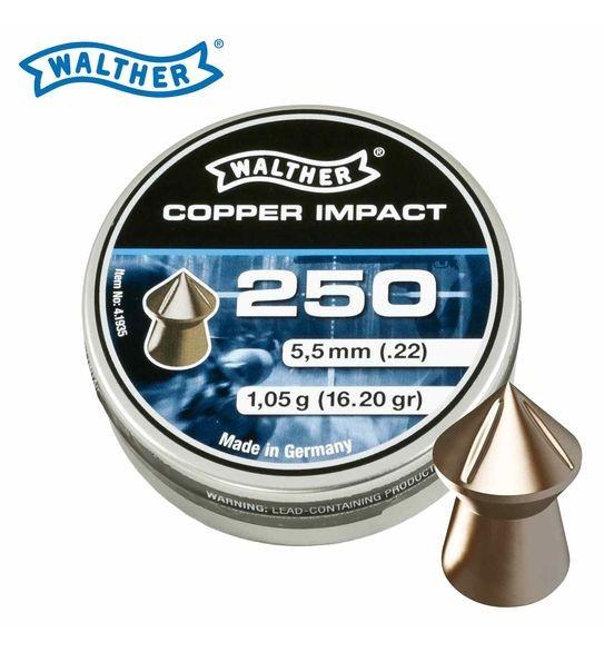 WALTHER Diabolo Kal. 5,5 Copper Impact 1,05g 250 Stk/Pkg