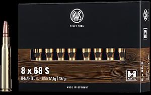 RWS 8x68S H-MANTEL 12,1g/187grs 20 Stk/Pkg