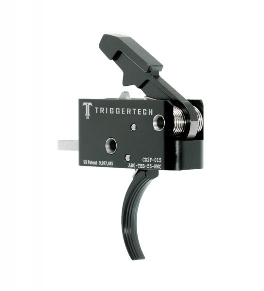 TRIGGERTECH Combat AR-15 Trigger Black Curved