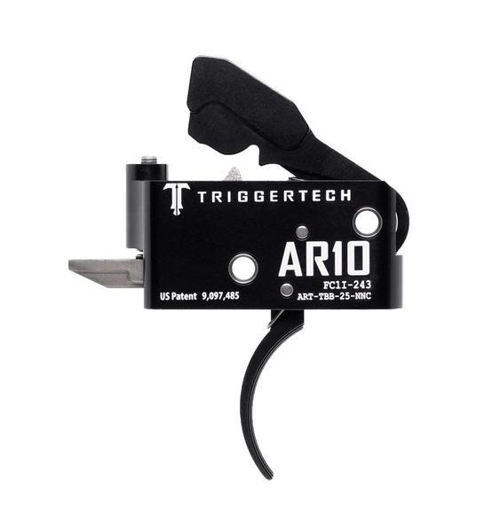 TRIGGERTECH Adaptable AR-10 Trigger Black Curved
