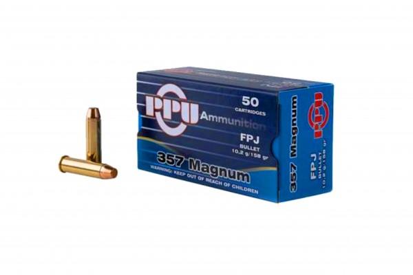PPU .357 Magnum FPJ 158grs. 50 Stk/Pkg
