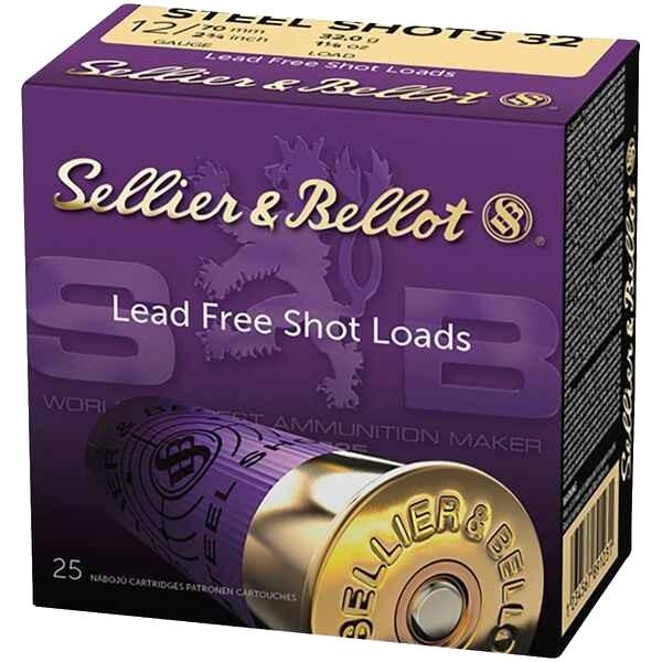 S&B 12/70 STEEL SHOTS 32g 3,56mm 25 Stk/Pkg
