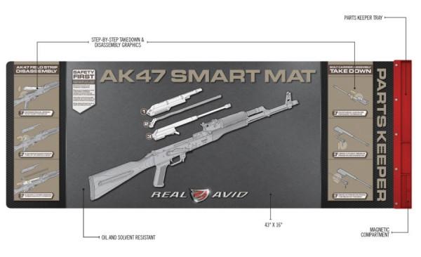 REAL AVID AK47 Artbeitsmatte 110x41cm mit Wartungsanleitung + Magnettablett
