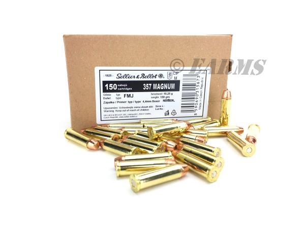 S&B .357 Magnum FMJ 158grs. 150 Stk/Pkg