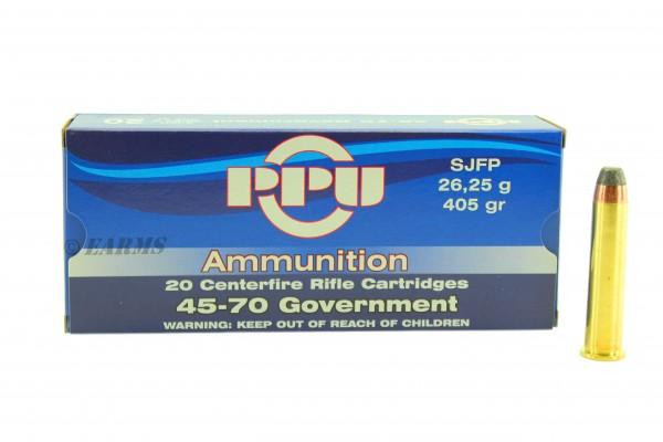 PPU .45-70 Government 405grs SJFP 20 Stk/Pkg