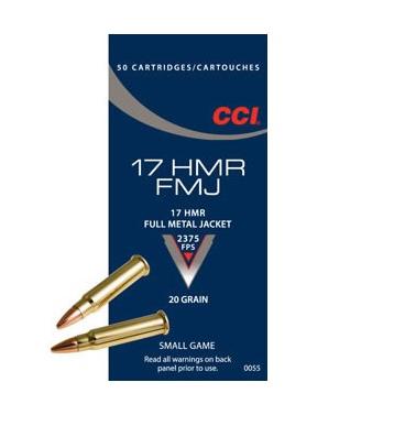 CCI .17 HMR 20grs FMJ 50 Stk/Pkg