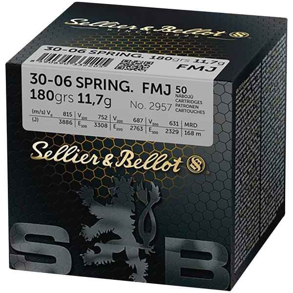 S&B .30-06 Springfield FMJ 180grs 50 Stk/Pkg