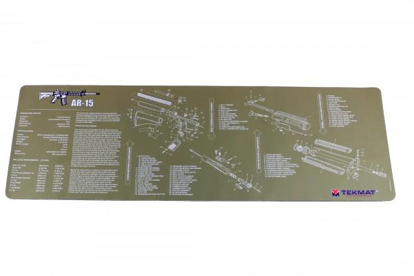 TEKMAT Profi AR-15 Reinigungs- und Arbeitsmatte OLIV