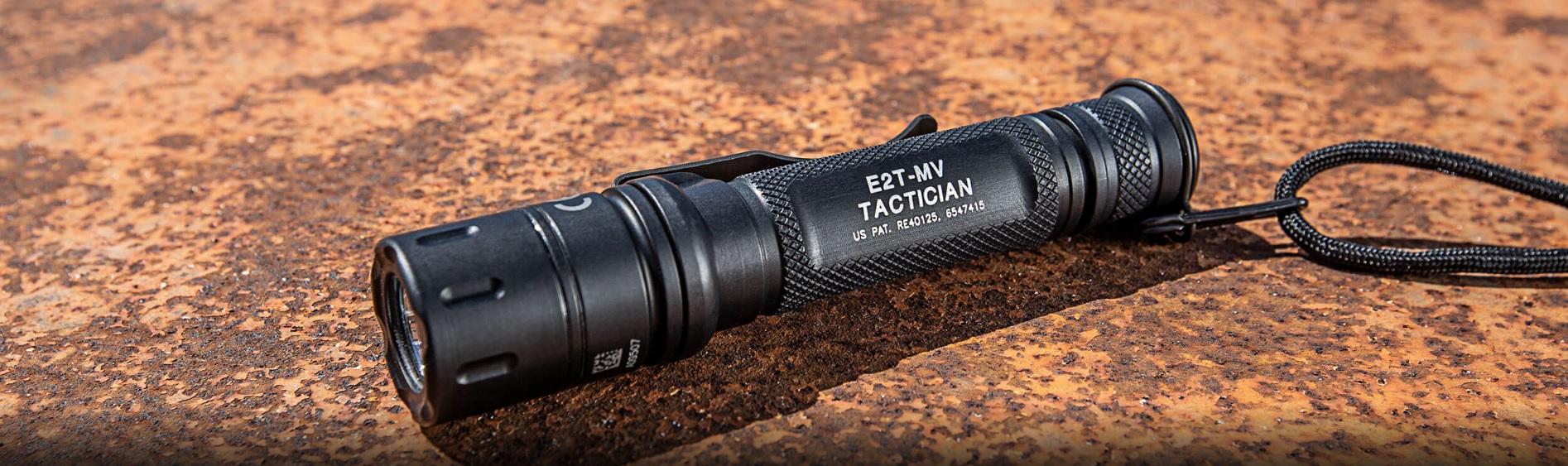 SUREFIRE-E2T-MV-TACTICIAN-Dual-Output-MaxVision-Beam-LED-Flashlight-BANNER